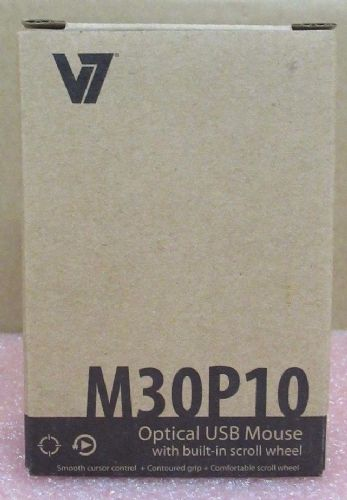 Brand New V7 M30P10-7E Optical USB Black 3 Button Wired Mouse